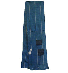 A Gorgeously Patched Length of Cotton Kaya: Indigo Dyed Mosquito Netting