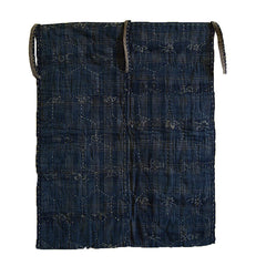 An Elaborately Sashiko Stitched Mat: Tortoise Shell Pattern