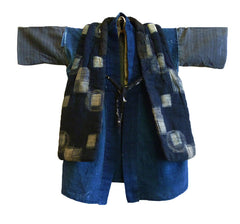 A Small Child's Complete Outfit: Padded Vest and Two Under Kimono
