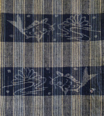 A Length of Extremely Beautiful 19th Century Egasuri: San'in Weaving