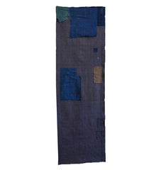 A Length of 19th Century Boro Cloth: Silk Patches on Silk Ground