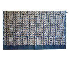 A Hand Woodblock Printed Cotton Sarong by People Tree: Cat Faces