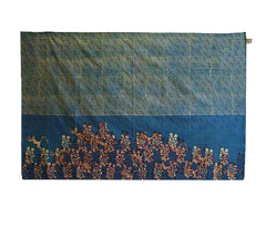A Hand Block Printed Indian Cotton Sarong: Flying Monkeys