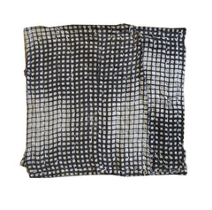 A Black and White Chuusen Dyed Zokin: Pulsing Grid