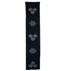 A Tsutsugaki Dyed Cotton Length: Repeated Motifs