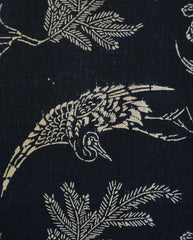 A Length of Katazome Cotton: Pine, Tortoise, Crane