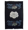 A Large Tsutsugaki Dyed Cotton Futon Cover: Family Crest and Paulownia Flowers