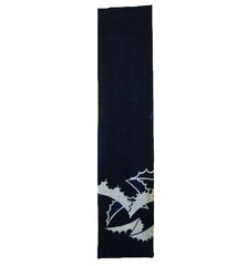 An Indigo Dyed Cotton Tsutsugaki Panel: Noshi Motif