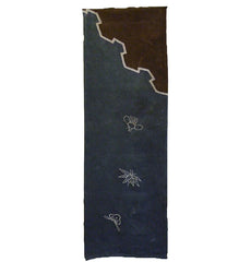 A Length of Tsutsugaki Dyed Cotton: Furoshiki Panel