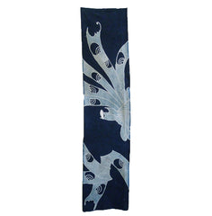 A Panel of Indigo Dyed CottonTsutsugaki: Sliver of Auspicious Noshi