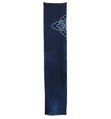 A Length of Indigo Dyed Cotton Boro: Tsutsugaki Detail