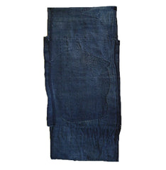 A Thickly Layered Indigo Cotton Tube: Boro and Patches