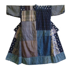 An Exuberantly Pieced Boro Kimono: Colorful Patches