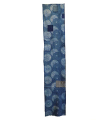 A Length of Katazome Dyed Boro Cloth: Double Chrysanthemums