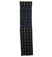 A Two Plaid Boro Panel: Hand Stitched Contrast
