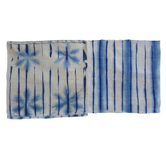 A Pair of Shibori Fragments: Faded Beauties