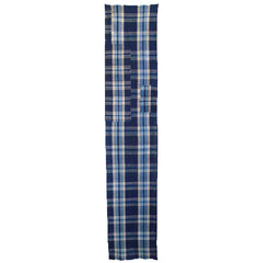 A Plaid-on-Plaid Boro Panel: Same Fabric Patches