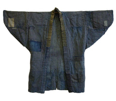 An Indigo Dyed Boro Noragi: Very Patched and Mended Work Coat