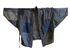A Ragged Boro Noragi: Patched and Mended Work Coat