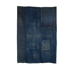 A Thickly Layered, Sashiko Stitched Mat: Indigo Dyed Cotton