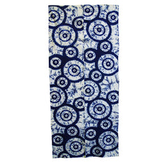 A Double Panel of Shibori Dyed Cotton: Stylized Parasols