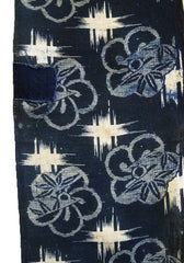 A Length of Large Scale Katazome Cotton: Plum Blossoms