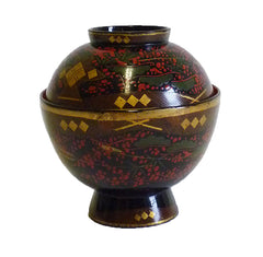 A Lidded Lacquer Bowl from Aizu: Late Edo Period