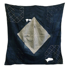A Very Large and Beautifully Boro Sashiko Furoshiki: Many Patches and Stitches