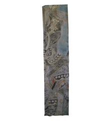 A Very Faded Section from a Nobori Banner: Samurai Imagery