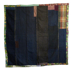 A Large Piece Constructed Sashiko Stitched Cloth: Sleeping Mat or Hearth Cover