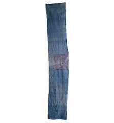 A Long Boro Panel: Mottled Lightweight Indigo Dyed Cotton