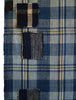 A Beautifully Patched Plaid Boro Length: Hand Spun Cottons