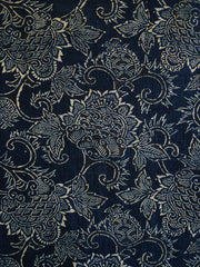 A Length of Beautifully Figured Katazome Cotton: Floral