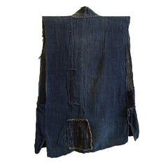 An Indigo Dyed Hemp Vest: Tattered and Patched