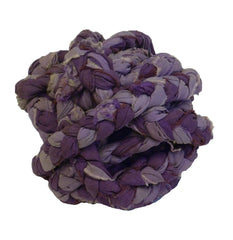 A Small Ball of Braided Cotton Rope: Purple Color
