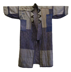 A Boro Cotton Kimono: Purplish Hues and Patching