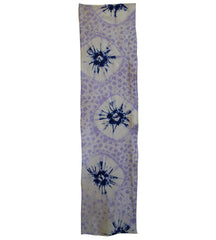 A Length of Shibori Dyed Cotton: Lavender and Indigo
