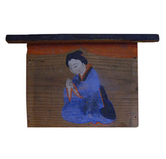 A Hand Painted Ema: Shinto Devotional Plaque