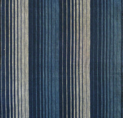 A Magnificent 19th Century Striped Cloth: Stylized Woven Waterfall