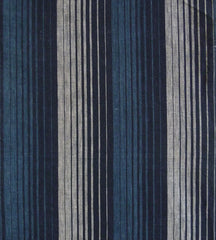 A Length of 19th Century Woven Striped Cotton: Waterfall Image