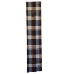 An Early Showa Length of Plaid Cotton: Patched