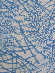 A Pale Blue and White Katazome Length: Large Scale Pattern on Hemp