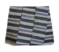 A White, Green and Purple Sakiori Obi: Rag Weave