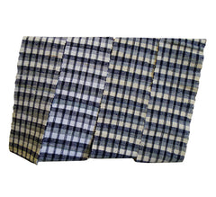 A Black and White Sakiori Obi: Fine Rag Weaving