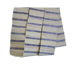 A Narrow Sakiori Obi: Pale Colored Cottons