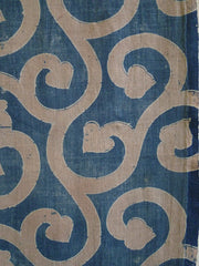 A Beautifully Colored Rustic Katazome Length: Large Scale Arabesque