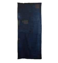 A Wide Boro Mat: Patched Indigo Dyed Cotton