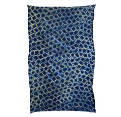 A Large Scale Miura Shibori Cotton Cloth: Splashy Pattern