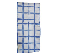 An Itajime Shibori Dyed Diaper: Grid Pattern