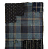A Length of Large Scale Plaid Cotton: Patched Boro Cloth